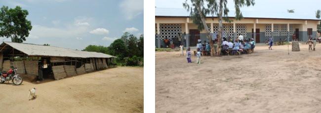 Die fünfte Weitblick-Schule in Zaphi im Vorher-Nachher Vergleich