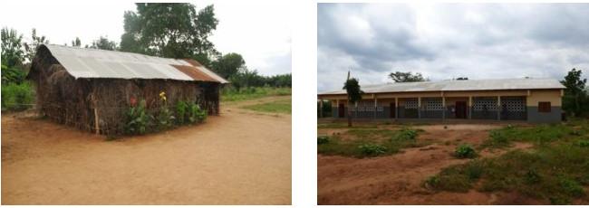 Die sechste Weitblick-Schule in Dedeke im Vorher-Nachher Vergleich