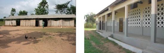Weitblick Schule in Kpodavé vorher und nachher